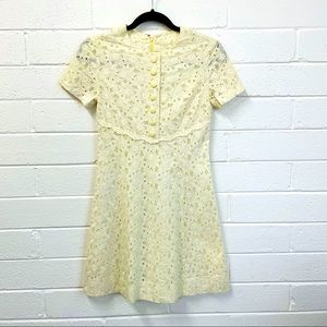 Vintage Handmade Broderie Anglaise Fit & Flare. S